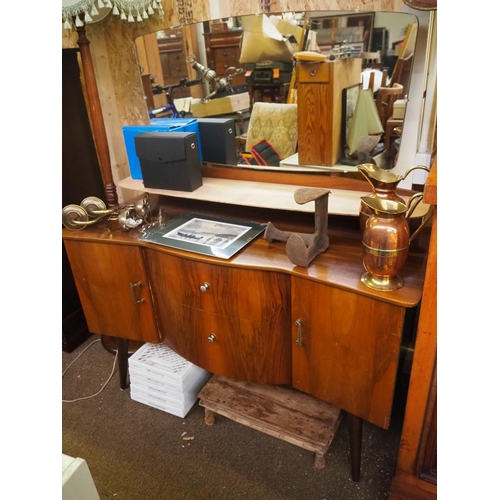 25 - A vintage/ retro mirror back dressing table....