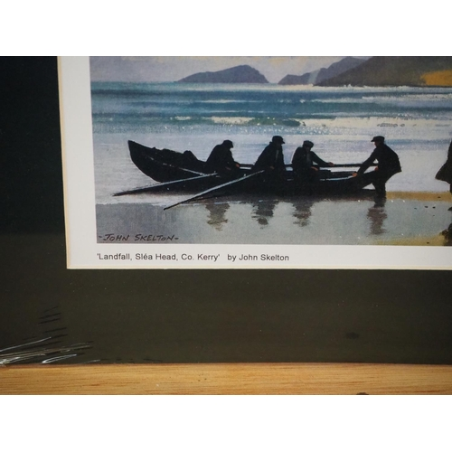 28 - A set of 2 mounted prints by John Skelton....