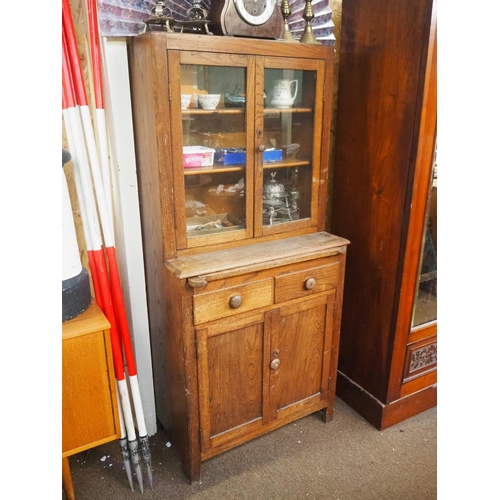 54 - An antique bureau bookcase in need of some restoration....