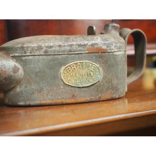 8 - A vintage Braime oil can....