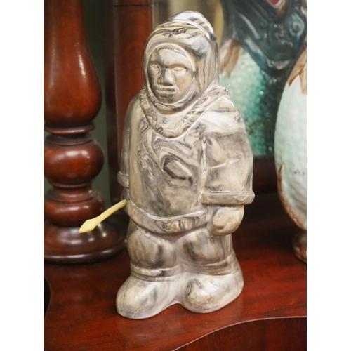 9 - An Inuit/ Eskimo carved figure....