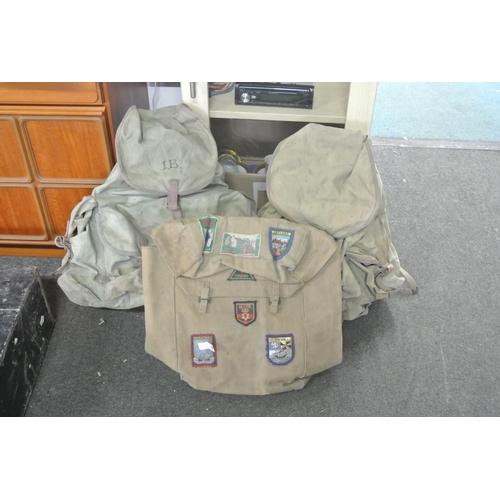1 - An assortment of backpacks....