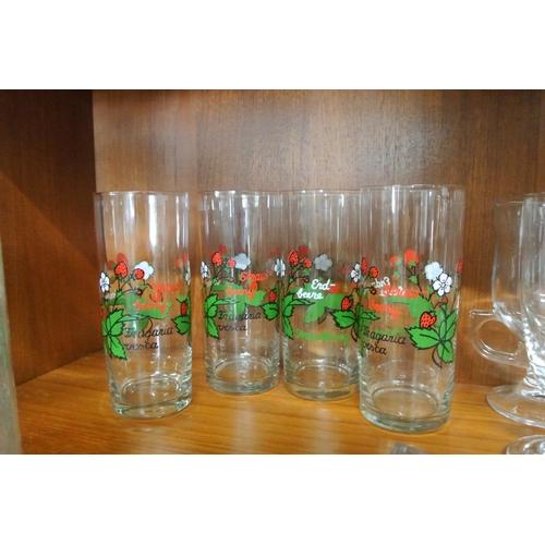 12 - A set of 4 vintage glasses....