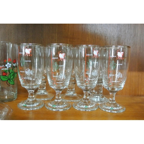 13 - A set of 6 Irish Coffee glasses....