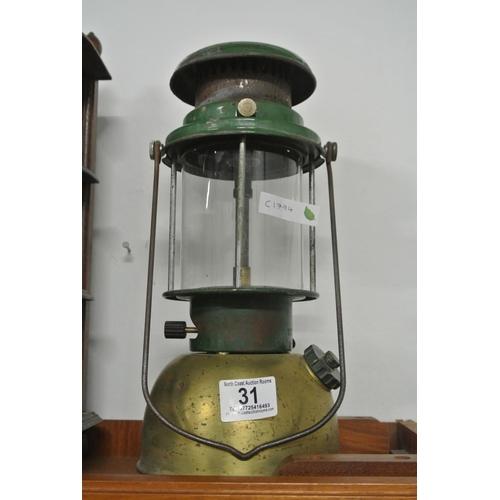 31 - A vintage Tilley hurricane lamp....