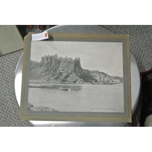 43 - A vintage souvenir photograph of Dunluce Castle, Portrush....