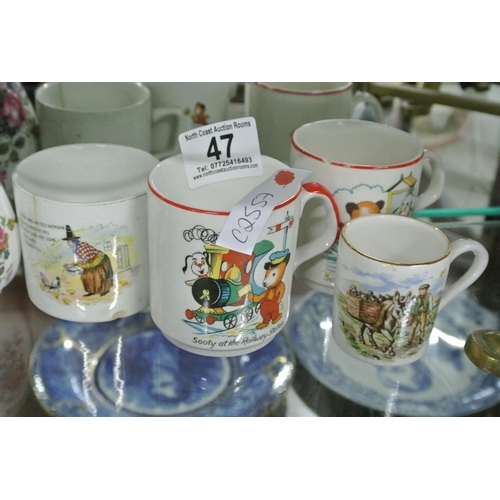 47 - A collection of 4 vintage mugs....