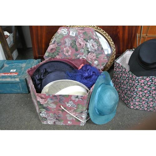 53 - An assortment of various hats....
