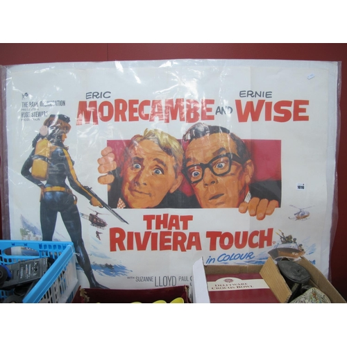 1016 - That Riviera Touch (1966) Quad Poster, starring Morecambe & Wise, printed by Charles Read, London, 7...