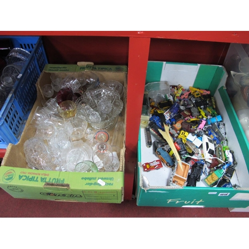 1018 - A Quantity of Diecast Cars, to include Corgi 007 Lotus Esprit, Dinky train carriages, small Concorde...