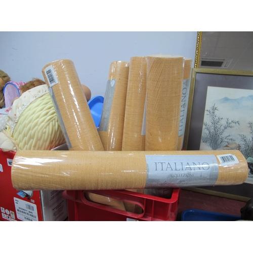 1039 - Wallpaper,' Italiano' eight rolls in sand colour....