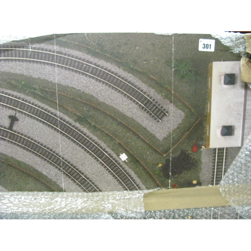 301 - A Pre-Fabricated 'OO' Scale Model railway Layout Board, measuring 180cm x 120cm....