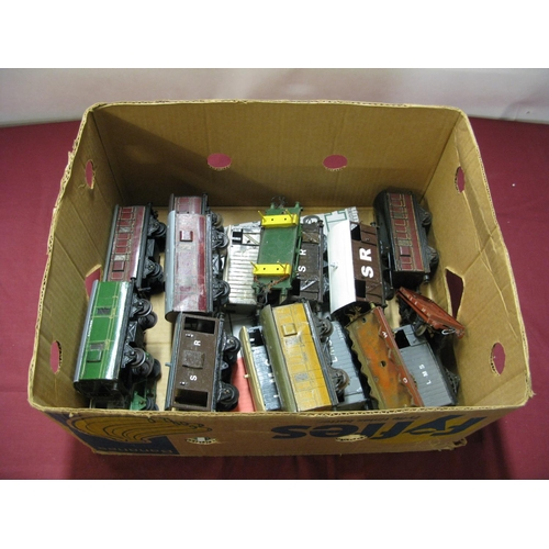 317 - Approximately Nineteen 'O' Gauge, mainly Hornby based four wheeled rolling stock, overall poor, brok...