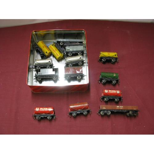 355 - A Quantity of Hornby Dublo Three Rail Wagons, all playworn....