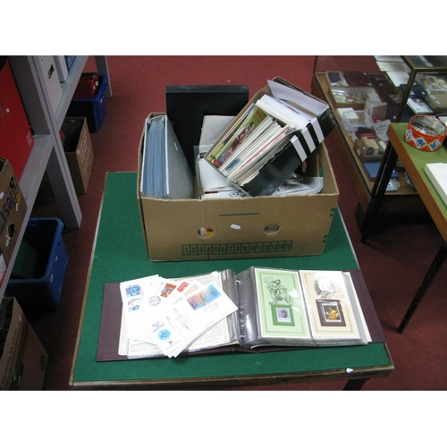127 - A Large Heavy Carton of Stamps, First Day Covers, PHQ Cards and Ephemera, Countries include Malta, R...