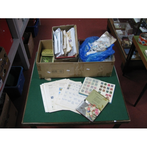 128 - A Large Carton of GB and World Stamps, mainly used both some mint GB in small boxes, packets, stockb...