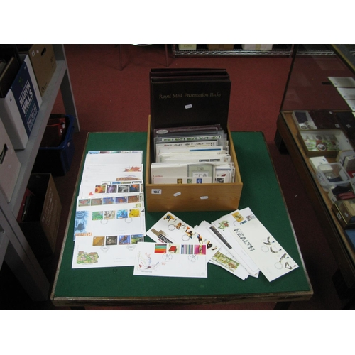133 - Three Royal Mail Presentation/FDC Folders, with empty leaves and over two hundred GB FDC's from 1979...