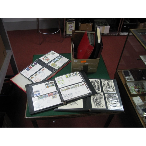 134 - A Collection of G.B First Day Covers, PHQ Cards and Postcards, in seven binders, nice selection from...