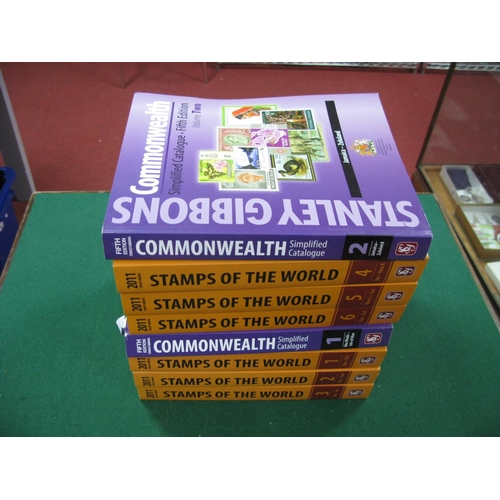 145 - Stanly Gibbons Commonwealth Simplified Fifth Edition Volumes 1 and 2, plus Stanley Gibbons Stamps of...