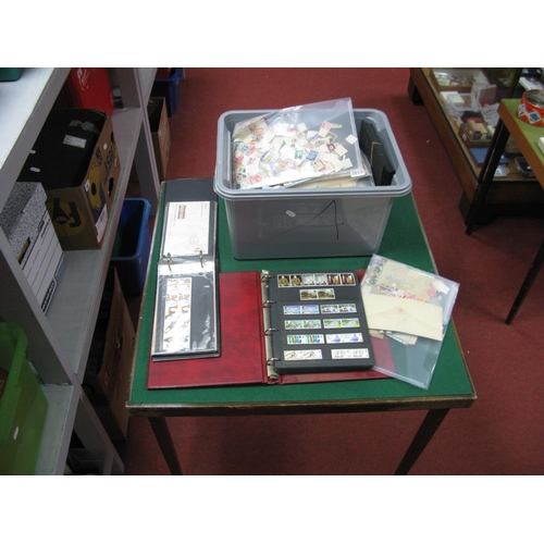 150 - A Large Box of Stamps, including GB Mint Pre-Decimal and Decimal in binders and World Stamps in docu...