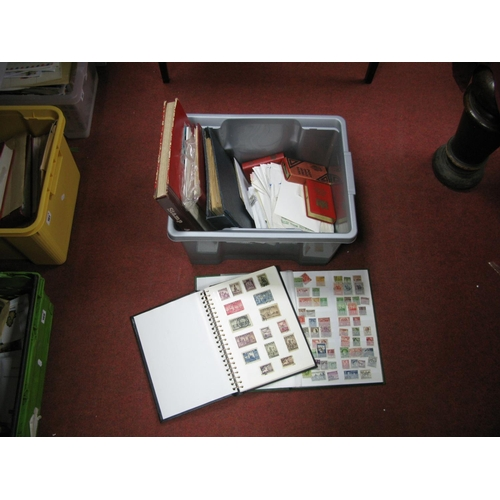 153 - A Box Containing a Range of Mint and Used World Stamps, in folders, stockbooks and in packets, also ...