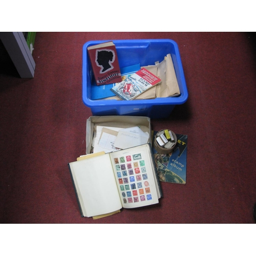 159 - A Box Housing Mint and Used GB and World Stamps, loose and in packets. A Junior Stamp Album and a co...
