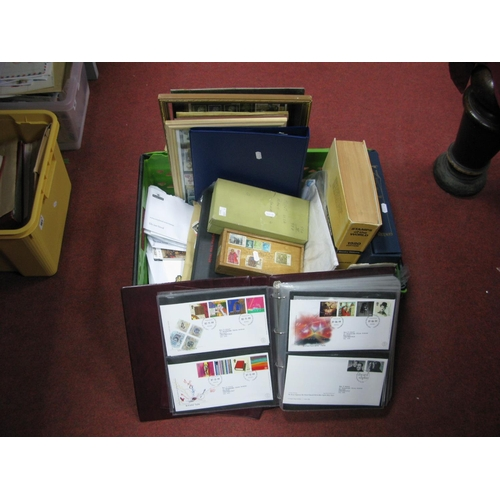 160 - A Large Heavy Box of GB and World Stamps, in packets and in small containers, also 120 + GB FDC's fr...