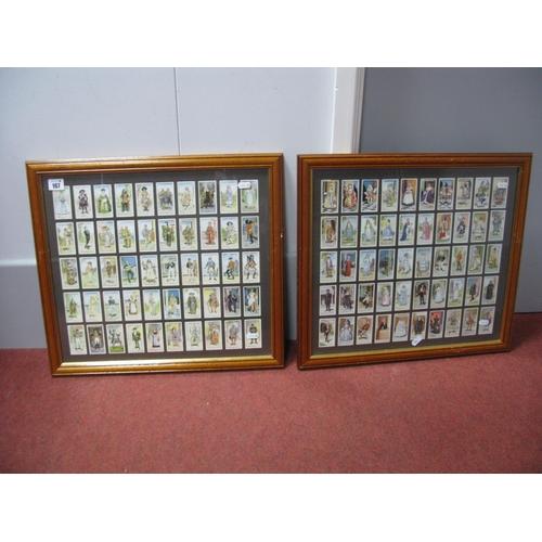 167 - Two Different Set of Fifty Original John Player & Sons Gilbert & Sullivan Cigarette Cards, both fram...