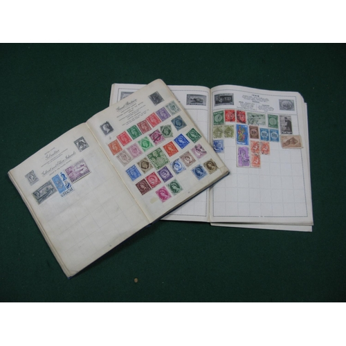175 - Two Junior Stamp Albums, mainly used many hundreds with very little after 1940's....