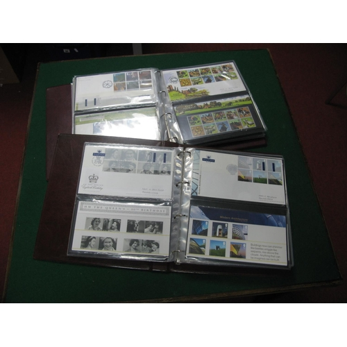 189 - Two Folders Housing a Collection of Fifty Four FDC's, 2004-2005, with corresponding presentation pac...