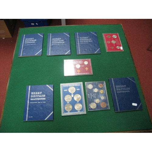 190 - Five Great Britain Whitman Coin Folders, including halfpennies collection 1860 - 1901 (incomplete), ...