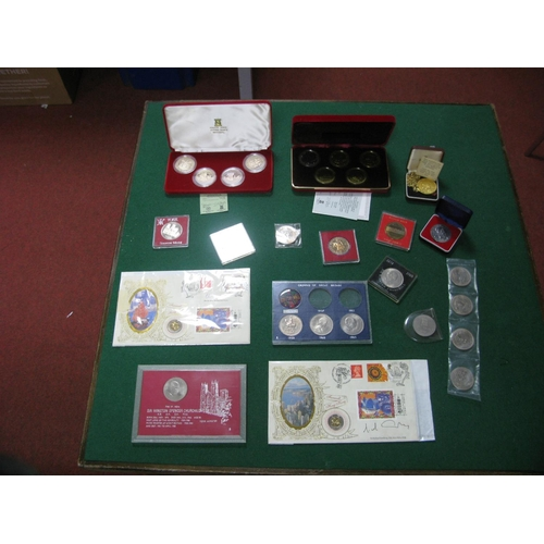 199 - A Collection of Mostly Crown Sized Coins, to include Pobjoy Mint millennium crowns commemorating the...