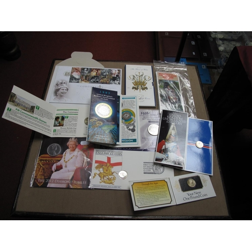 204 - A Collection of United Kingdom Coin Presentation Packs, to include Royal Mint 1997 BU £2 coin, first...