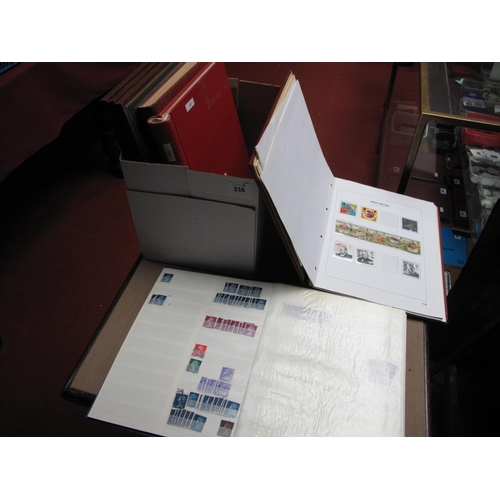214 - A G.B Collection of Mint and Used Stamps, in four binders from Queen Victoria to 1980's, includes Wi...