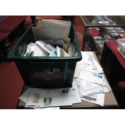 220 - A Large Box of G.B and World First Day Covers and a Selection of Postal History, noted First Flight ...