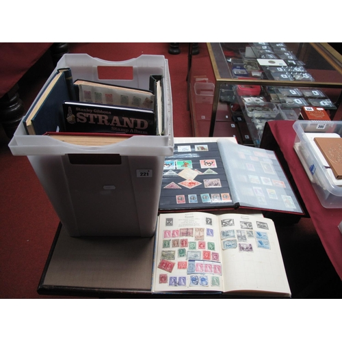 221 - A Large Carton Containing a Mainly Used Commonwealth Collection of Stamps, in fourteen albums, from ...