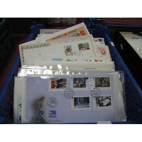 231 - A Collection of Channel Islands and Isle of Man First Day Covers and Presentation Packs, mainly 1970...
