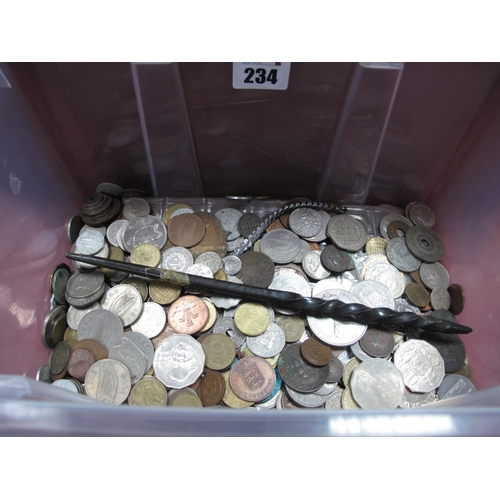 234 - A Collection of Mainly Overseas Base Metal Coins, many Countries represented including Australia 60 ...