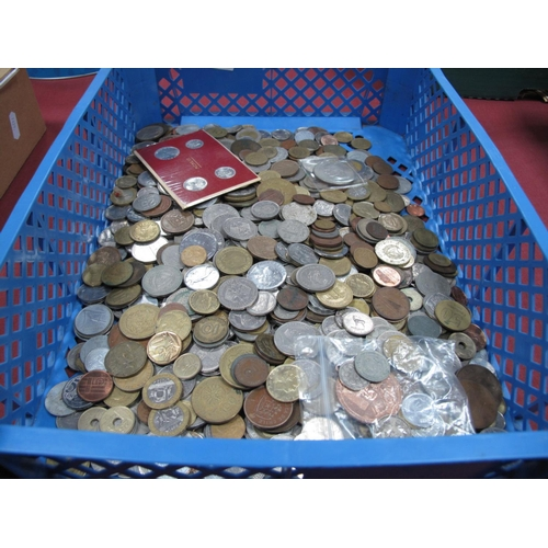 247 - A Quantity of Predominantly Base Metal Overseas Coins, mainly countries represented, redeemable coin...