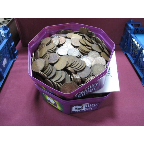 259 - A Collection of G.B Pre-Decimal Pennies, coin key rings, coins of ancient Britain replica coin pack ...