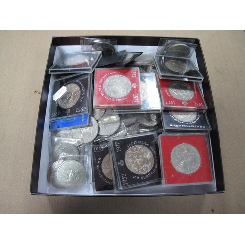 274 - Eighty Plus G.B Commemorative Crowns, including Silver Jubilee Crown 1977....