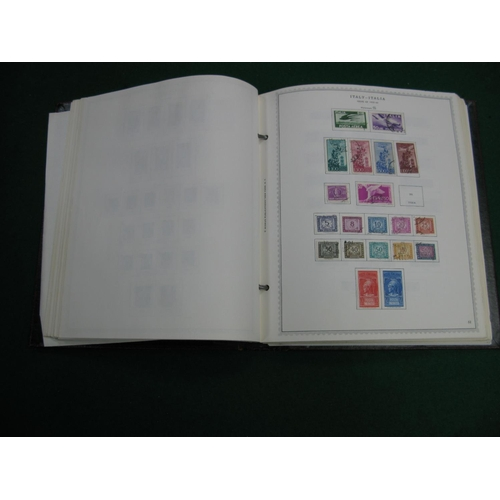 333 - A Collection of Italian Stamps, used in a Minkus one country album from 1890 to 1930 sparse then fro...