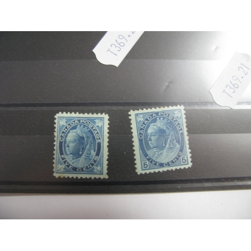353 - Canada: Queen Victoria Stamps 1897-98, SG 146 and SG 255, both mint, cat value £180....