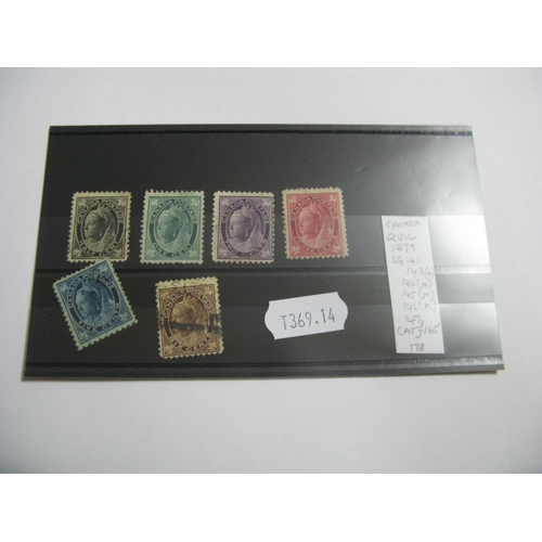 368 - Canada: Queen Victoria Mixed Mint and Used Stamps, SG 141, 143 mint, 144 mint, 145 mint, 146 mint an...