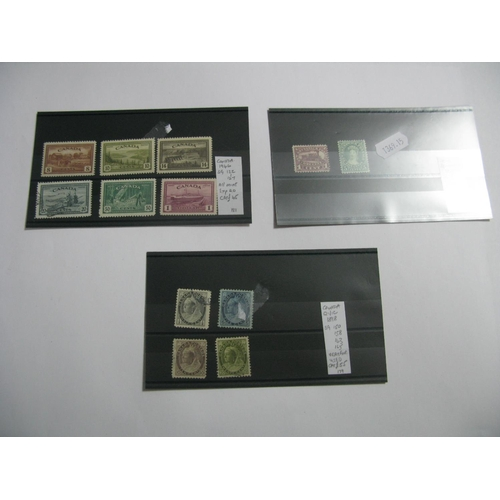 369 - Canada: A Range of Queen Victorian Stamps, including SG 401 - 406 mint, SG 150, 158, 163 and 165 fin...