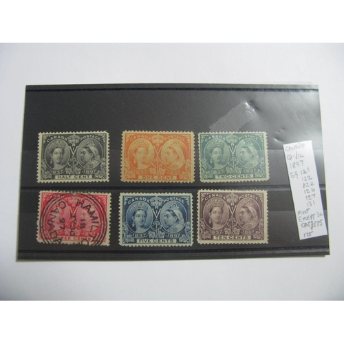 370 - Canada: Queen Victoria 1897 Mint Stamps, SG  121, 122, 124, 126, 127 and 131, cat £175....