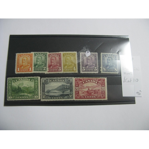 379 - Canada 1928 SG 255 - 283, all mounted mint cat £110....