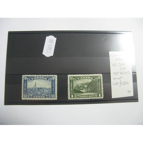 382 - Canada 1930 S G 302 and 303 Mounted Mint Cat £220....