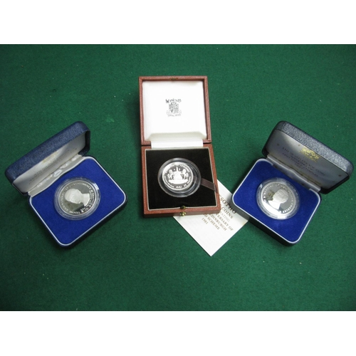 394 - Three Cased Silver Proof Coins, to include Fiji 10 Dollars 1980, 1981, Lesotho 25 Maluti 1981 commem...