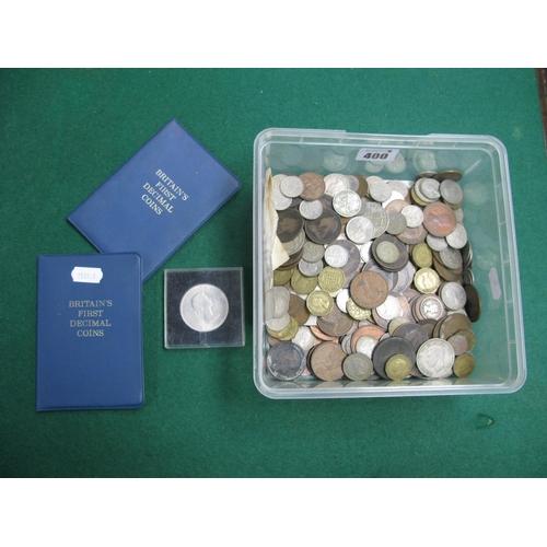 400 - A Quantity of Predominantly G.B Pre-Decimal Coins, assorted denominations, Churchill crown 1965, Bri...